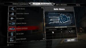 Knife Gloves Blueprints