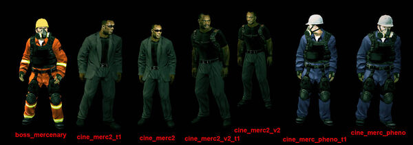 Mercenaries list all 7