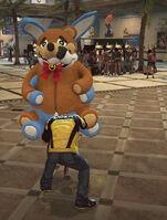 Dead rising robot bear switching stuffed animal