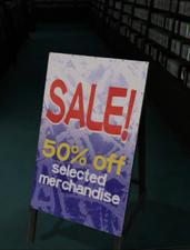 Entertainment Sale Sign