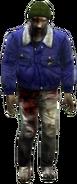 Dead rising zombies green hat blue jacket