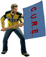 Dead rising protestor sign holding