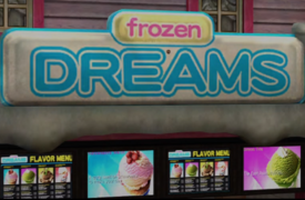 Frozen Dreams Sign PP Sticker