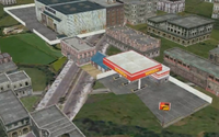 Second gas station and factory