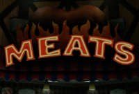 Seon's Meat Sign PP Sticker