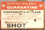 Dead Rising 2 Case Zero Quarantine Zone sign