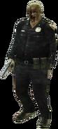 Dead rising zombie handgun police officer