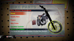 Dead rising 2 case 0 case 0-4 bike parts 2 items