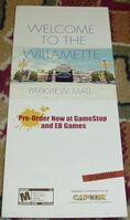 Dead Rising 1 Promo Item - Parkview Mall Brochure Map COVER