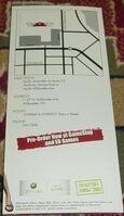 Dead Rising 1 Promo Item - Parkview Mall Brochure Map BACK