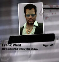 Frank West notebook entry