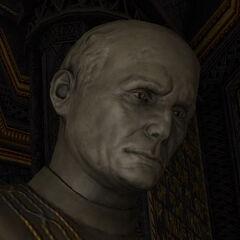 Спокойное выражение лица Альтмана, отображаемое на его статуях, придавало колорита в декор церкви юнитологии.