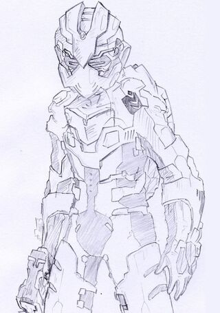 Dead space 2 amiral suit by lolover-d3ajeoo