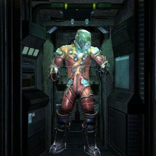 Передняя часть костюма астронавта