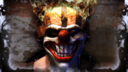 Twisted Metal - Sweet Tooth's face as seen in Yellow Jacket's Ending
