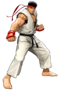Street Fighter - Ryu as he appears in Tatsunoko VS Capcom