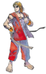Street Fighter - Ken Masters as he appears in the first Street Fighter game
