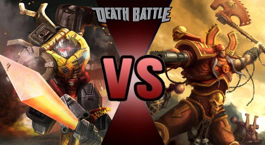image grimlock vs kharn the betrayerjpg death battle