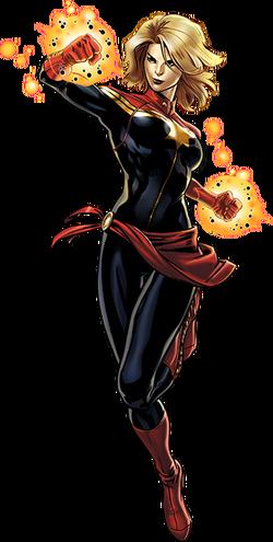 Captain Marvel Right Portrait Art