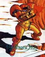 Metroid - Samus Aran as she appears in the Nintendo Power Comics