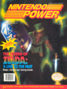 Nintendo Power - Link on the front cover for NP's Link to The Past Issue
