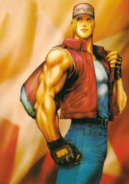 Fatal Fury - Terry Bogard holding his bag as he goes on a walk