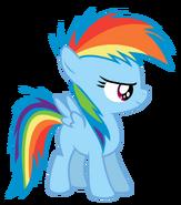 Rainbow dash filly by serenawyr-d6abl04