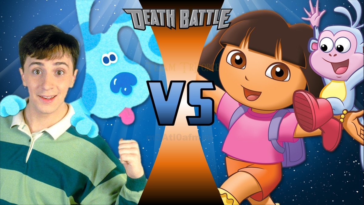 Image - Steve & Blue VS Dora & Boots.jpg | DEATH BATTLE ...