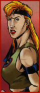 Mortal Kombat - Sonya Blade as she appears in the 1990s comics