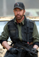 Chuck Norris as seen in The Expendables 2