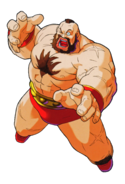 Street Fighter - Zangief as he appears in Marvel Super Heroes vs Street Fighter