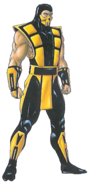 Mortal Kombat - Scorpion's Concept Art for the Mortal Kombat Trilogy Version
