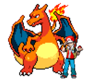 Red & his Charizard