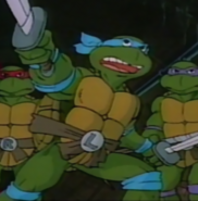 Teenage Mutant Ninja Turtles - Leonardo as he appears in the 1987 cartoons
