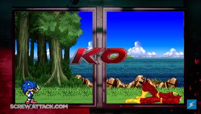 Sonic (Archie) VS Flash KO