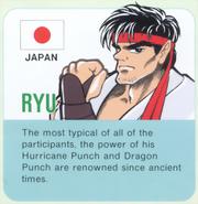 Street Fighter - Ryu's Profile Card