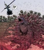 Anguirus half war
