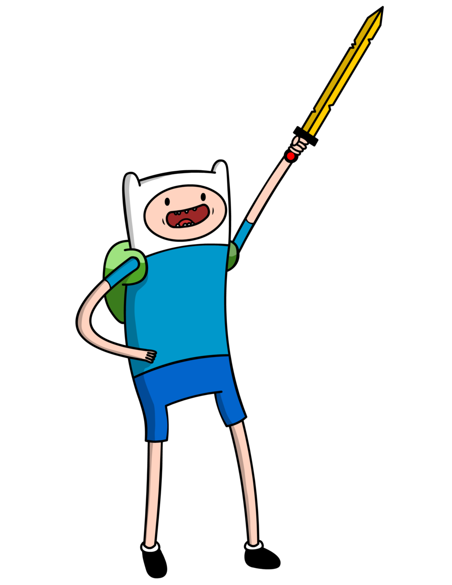 how to draw finn the human with sword