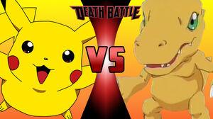 Pikachu vs Agumon 2
