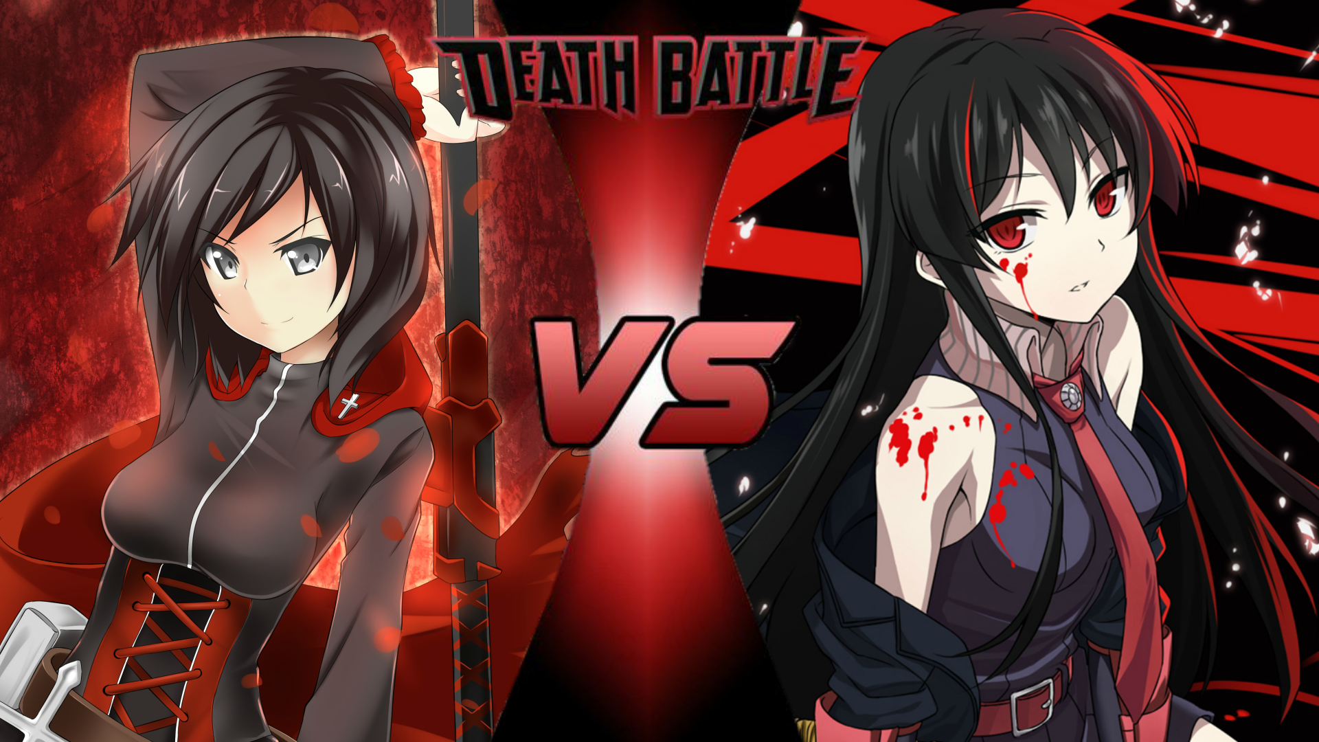 ruby rose vs  akame
