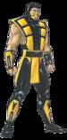 Mortal Kombat - Scorpion's Concept Art for the Mortal Kombat Trilogy Version