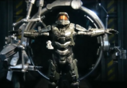 Halo - Master Chief about to have his armor removed