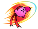 Kirby - Fighter Kirby doing his Kick Attack Move