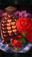 V-Day Choco card backdrop
