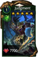 Judgment hero card