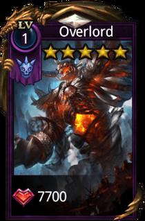 Overlord hero card