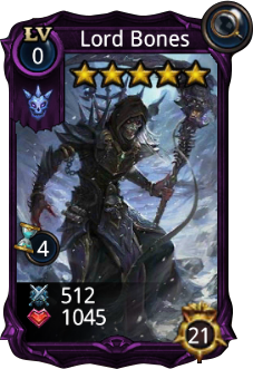 Lord Bones creature card base stats