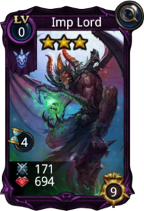 Imp Lord creature card