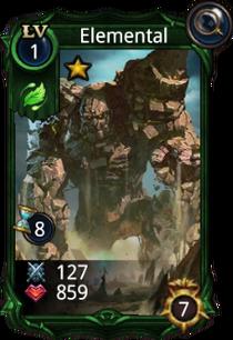 Elemental creature card