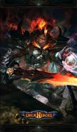 Demonic templar backdrop